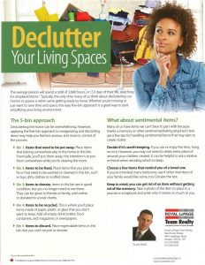 Declutter Your Living Spaces 1