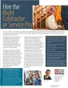 Hire the Right Contractor or Service Pro 1