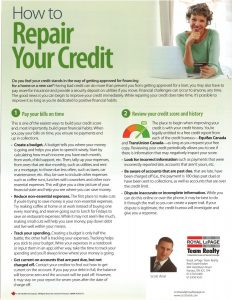 How to Repair Your Credit 1