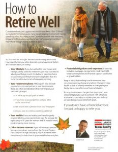 How to Retire Well 1