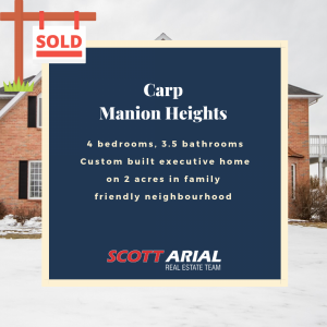 SOLD Carp Manion Heights