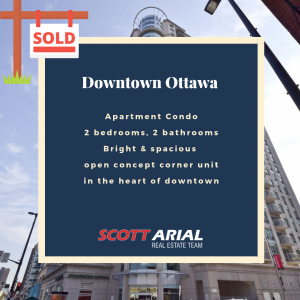 SOLD Downtown condo