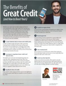 The Benefits of Great Credit 1