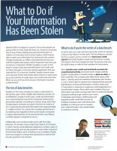 What to Do if Your Information Has Been Stolen 1
